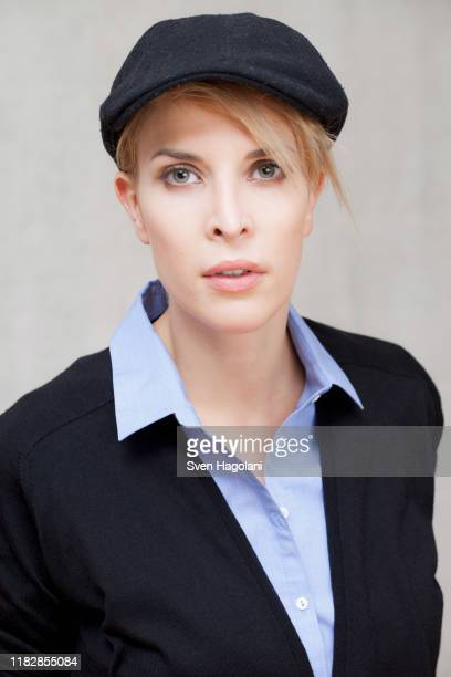 portrait confident, stylish young woman - menswear stock pictures, royalty-free photos & images
