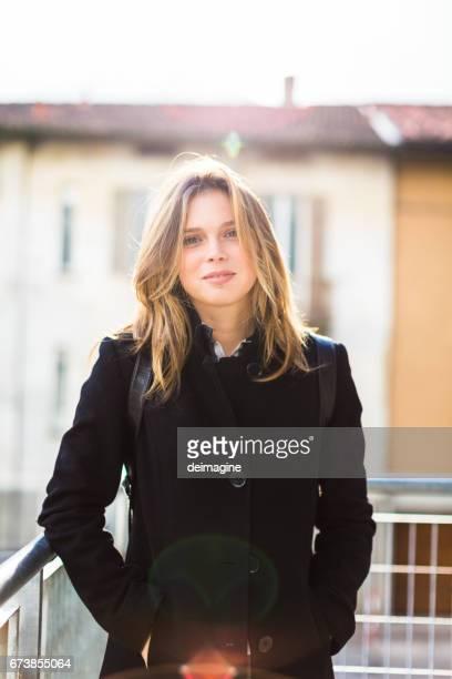 Portrait cute young woman