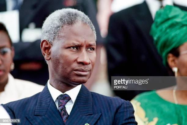Portrait d'Abdou Diouf le Président de la République du Sénégal