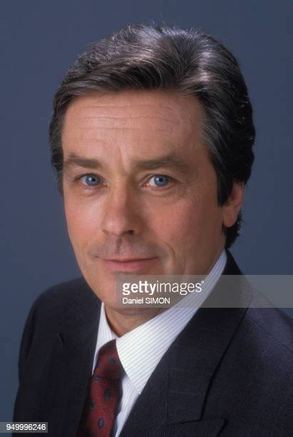 Portrait d'Alain Delon en février 1988 à Paris France