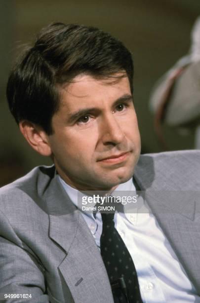 Portrait d'Alain Minc économiste le 11 juillet 1984 à Paris France