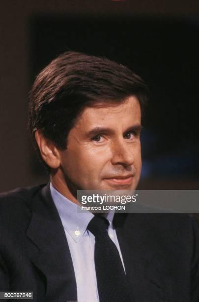 Portrait d'Alain Minc économiste le 19 septembre 1987 à Paris France