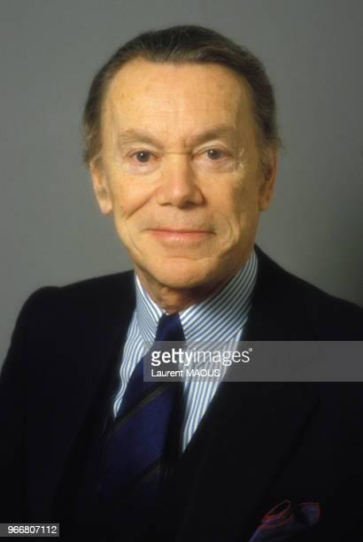 Portrait d'Albin Chalandon ministre de la Justice du gouvernement Chirac le 25 mars 1986 à Paris France