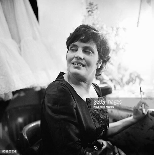 Portrait d'Amalia Rodrigues à Paris France le 20 février 1960