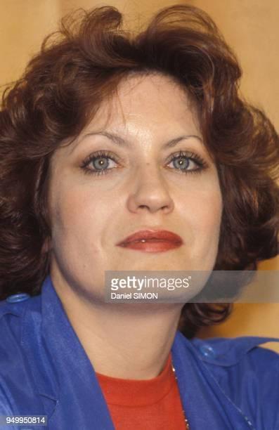 Portrait d'Andréa Ferréol au Festival de Cannes en mai 1981 France