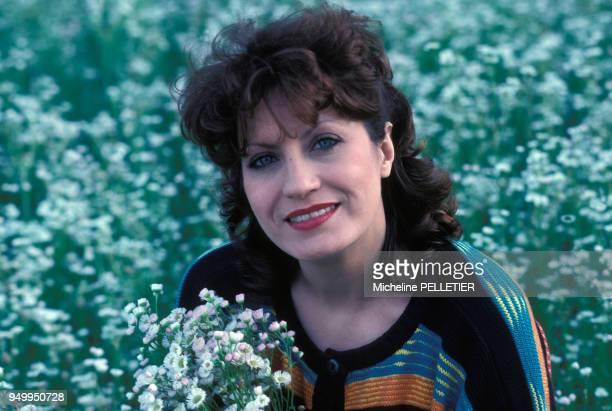 Portrait d'Andréa Ferréol lors du tournage du film 'Louisiane' de Philippe de Broca en mai 1983 en France