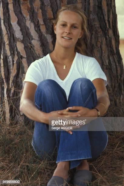 Portrait d'AnneMarie Philipe actrice en septembre 1979 à Hyères France
