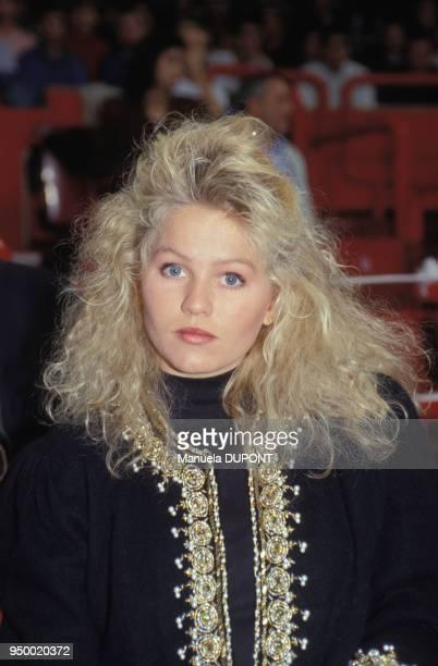 Portrait d'Annette Olsen épouse de Stefan Edberg le 4 novembre 1990 à Paris France