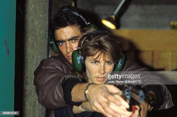 Portrait d'Anthony Delon et Tawny Kitaen le 11 février 1984 à Paris France