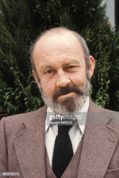 Portrait d'Antoine Blondin romancier le 3 mai 1981 à Paris France