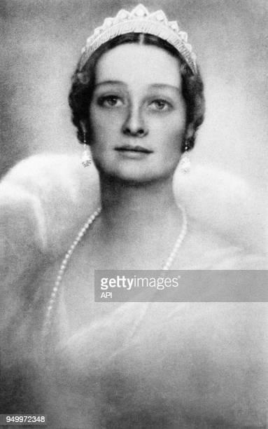 Portrait d'Astrid de Suède épouse de Léopold III et reine des Belges Belgique
