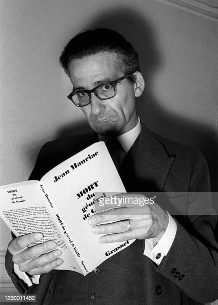 Portrait daté du 10 mai 1972 du journaliste et écrivain Jean Mauriac. Jean Mauriac qui a effectué toute sa carrière de journaliste politique à...
