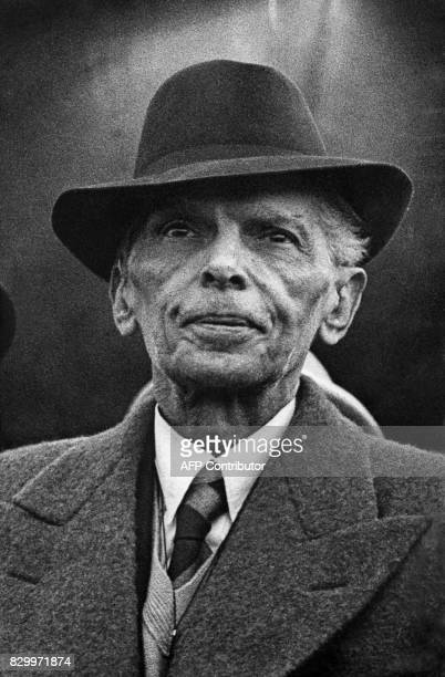 Portrait dated 1953 of Muhammad Ali Jinnah head of the New Moslem Nation of Pakistan and the country's founding father Muhammad Ali Jinnah is known...