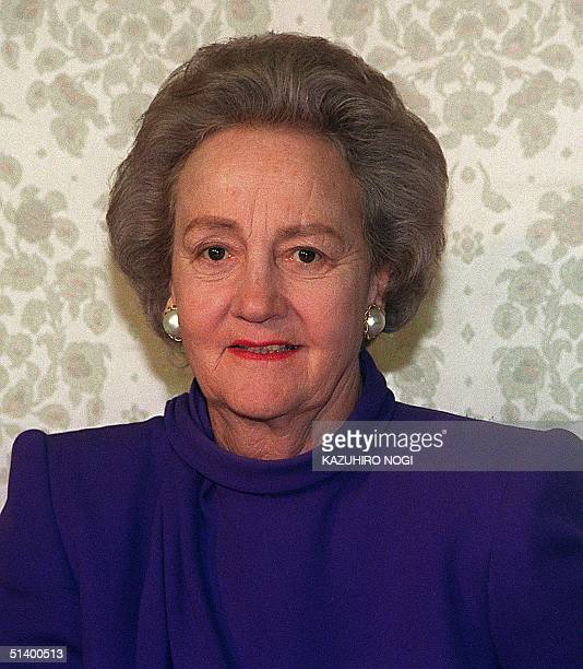 A portrait dated 22 April 1991 of Katherine Graham Chairman of the Board for the Washington Post Company taken in Tokyo