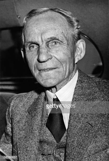 Portrait dated 22 July 1938 of Henry Ford US car manufacturer founder of the Ford Motor Company in 1903 and father of modern assembly lines used in...