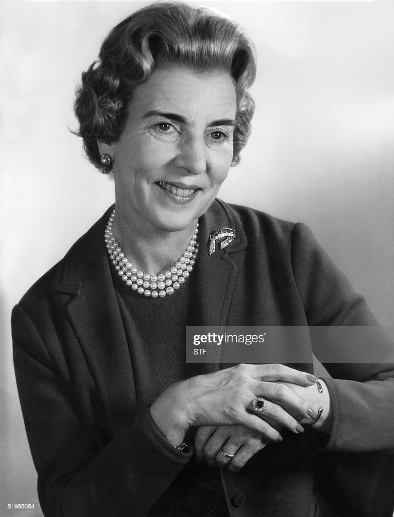 A portrait dated in the 1960s of Danish Queen Moth : Foto jornalística