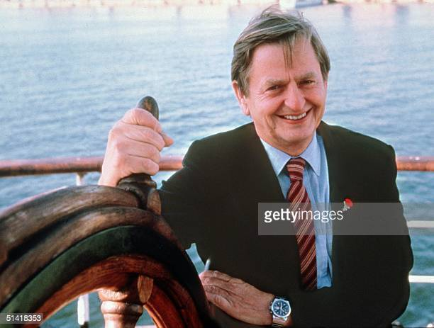 Portrait dated of the eighties of Swedish Prime Minister Olof Palme in Stockholm Olof Palme was killed 28 February 1986 by a lone gunner in central...