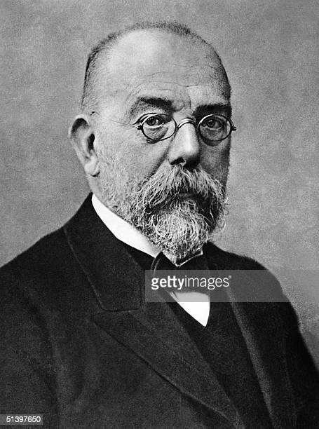 Portrait dated probably 1903 in Berlin of Robert Koch German bacterioligist physician and surgeon who discovered in 1982 the tuberculosis bacillus...