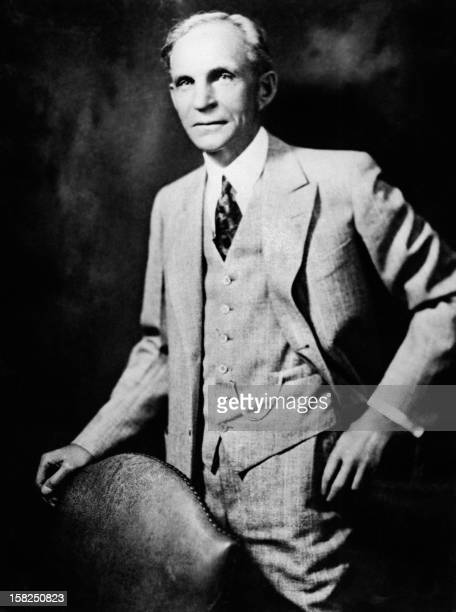 Portrait dated September 1935 of Henry Ford , US car manufacturer, founder of the Ford Motor Company in 1903 and father of modern assembly lines used...