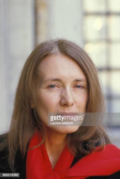 Portrait de Annie Ernaux le 12 novembre 1984 à Paris France