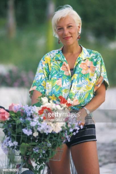 Portrait de Bernadette Lafont en avril 1988 Bahamas