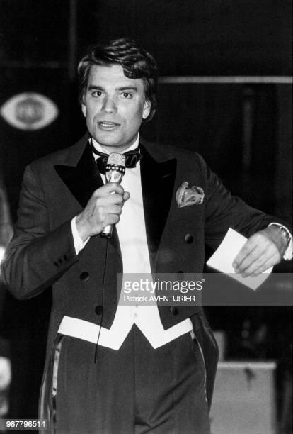 Portrait de Bernard Tapie invité du Gala de la Presse le 29 janvier 1986 à Paris France