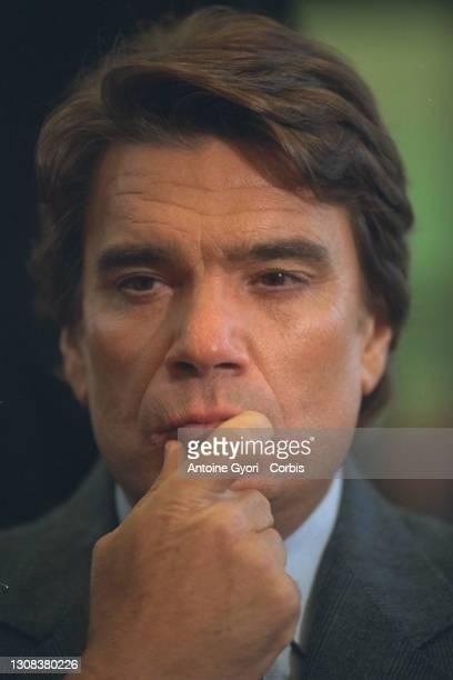 Portrait de Bernard Tapie.
