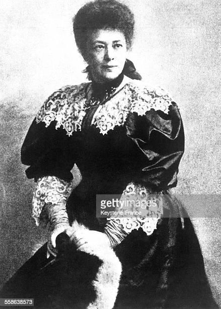 Portrait de Bertha von Suttner première femme à obtenir le Prix Nobel de la Paix en 1905 et qui a influencé la décision de Nobel de demander la...