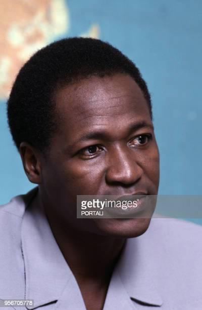 Portrait de Blaise Compaoré, le président de la République du Burkina Faso.