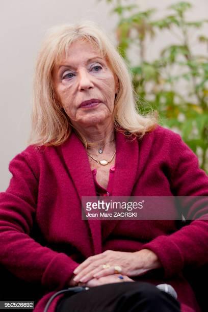 Portrait de Blandine De Caunes journaliste ecrivain et attachée de presse chez Phébus fille de Georges de Caunes et de Benoîte Groult et demisur...