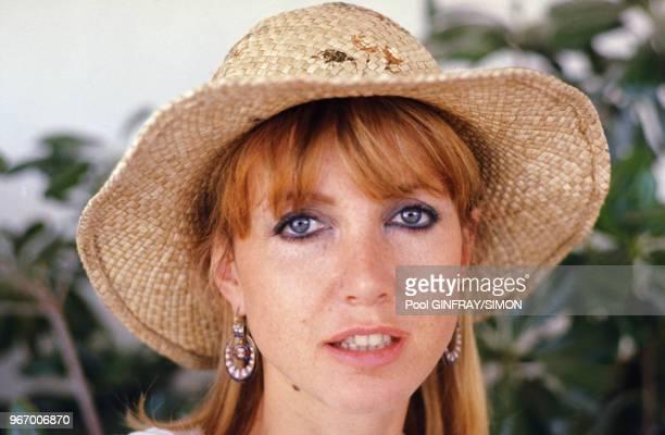 Portrait de Bulle Ogier actrice au Festival de Cannes le 17 mai 1976 France