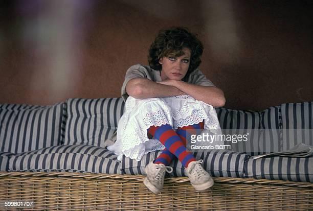 Portrait de Carla Gravina actrice en mai 1980 en France