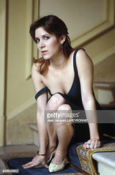 Portrait de Carrie Fisher le 11 juin 1983 à Paris France