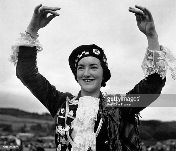 Portrait de Catriona Buchanan qui a gagné deux fois le championnat mondial junior du Highland Dancing à Stirling Ecosse RoyaumeUni