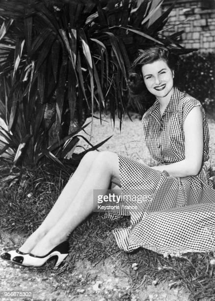 Portrait de Christiane Martel qui sera élue Miss Univers 1953
