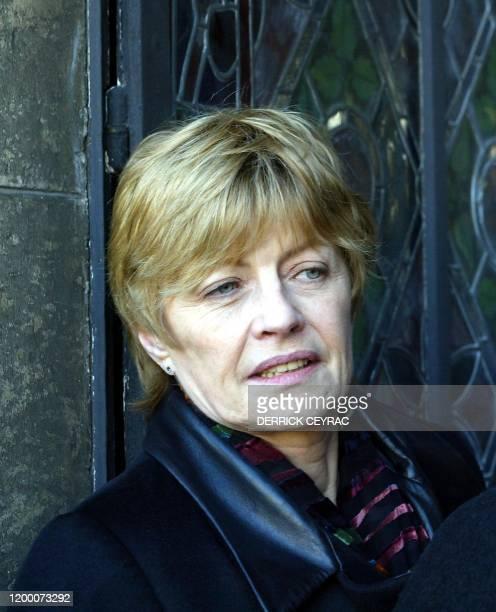 Portrait de Claire Bretecher membre du jury du 29e Festival international de la bande dessinée pris le 26 janvier 2002 à Angoulême lors de l'annonce...