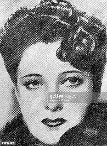 Portrait de Clara Petacci maîtresse de Benito Mussolini
