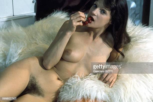 Portrait de Claudine Beccarie actrice de films pornographiques circa 1970 en France