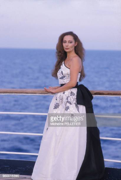 Portrait de Claudine Coster actrice circa 1980 en France