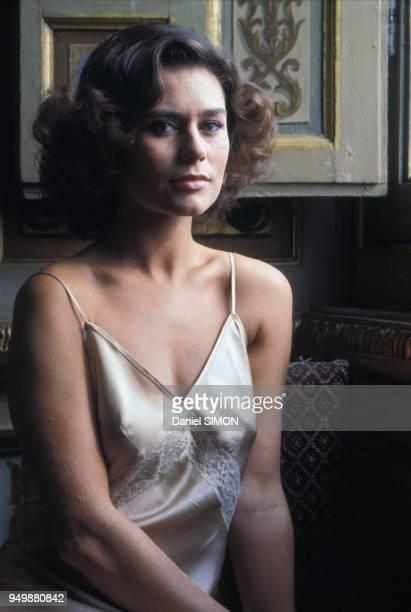 Portrait de Corinne Clery en janvier 1979, Paris, France.