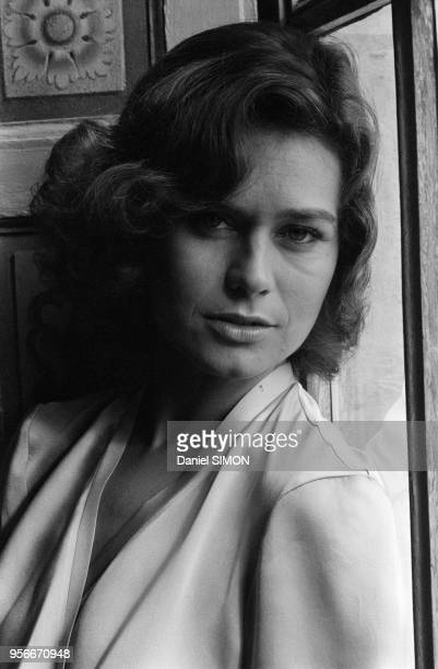 Portrait de Corinne Clery lors du tournage du James Bond 'Moonraker' à Paris en janvier 1979, France.
