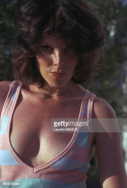 Portrait de Dani chanteuse et actrice en 1974 à Paris France
