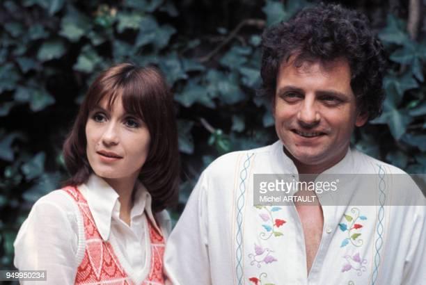 Portrait de Danièle Evenou et Jacques Martin en mai 1974 en France