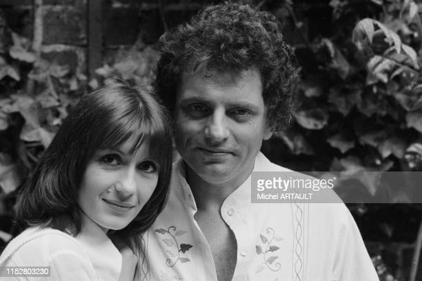 Portrait de Danièle Evenou et Jacques Martin à Paris le 15 mai 1974 en France.