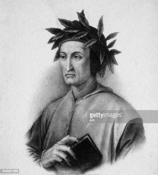 Portrait de Dante Alighieri écrivain italien du 13ème siècle