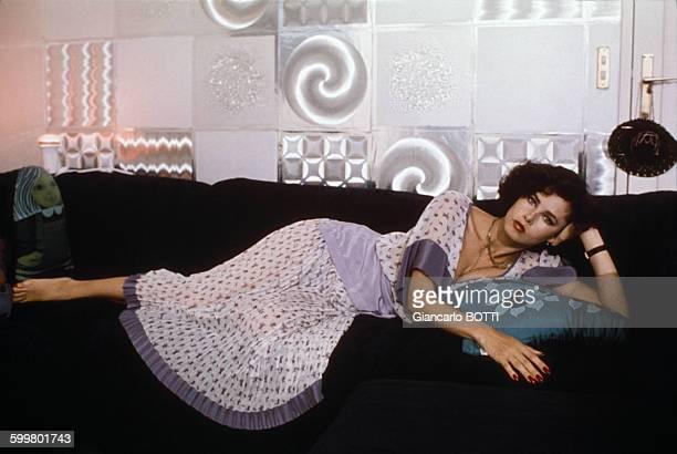 Portrait de Dayle Haddon actrice et mannequin circa 1970 en France