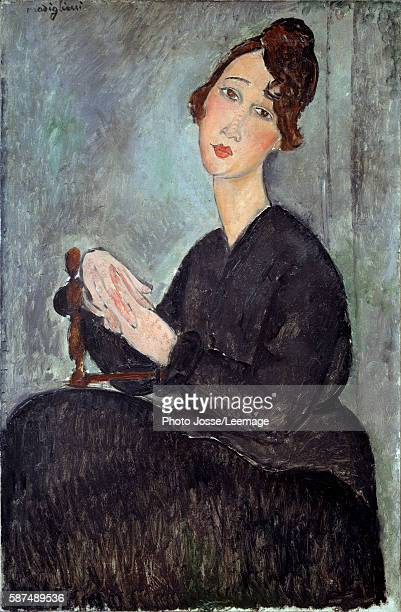 Portrait de Dedie Painting by Amedeo Modigliani oil on canvas 1918 Musee national d'art moderne Centre Georges Pompidou Paris France