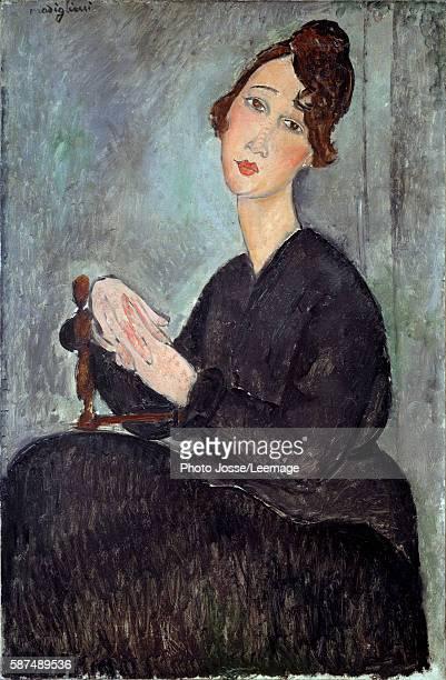 Portrait de Dedie . Painting by Amedeo Modigliani , oil on canvas , 1918. Musee national d'art moderne, Centre Georges Pompidou, Paris, France