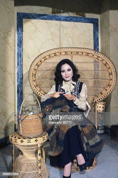 Portrait de Dewi Sukarno épouse du président indonésien circa 1970 en France