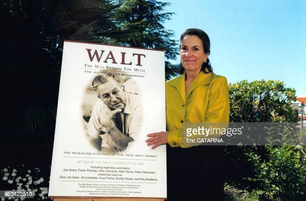 Portrait de Diane Disney Miller fille de Walt Disney au Mipcom pour présenter le film 'The Man behind the Myth' en hommage à son père en 2000 à...